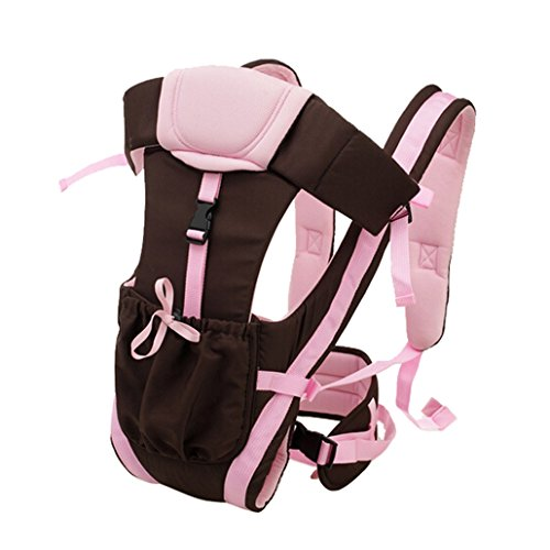 Dehang Cotton Adjustable Comfortable Baby Carrier - Pink