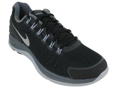 Nike Nike Men's NIKE LUNARGLIDE+ 4 RUNNING SHOES 13 Men US (BLK/RFLCT SLVR/DRK GRY/WLF GRY )