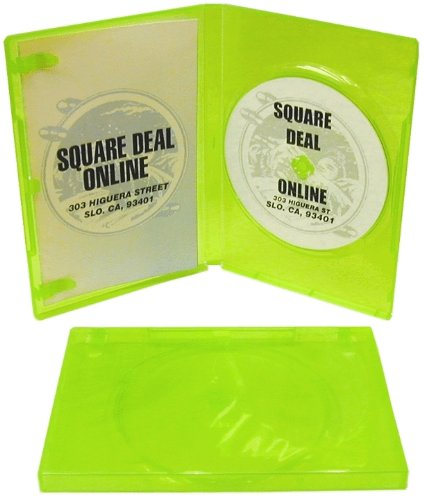 (5) Empty Standard XBOX 360 Translucent Green Replacement Games Boxes / Cases #DVBR14XBOX