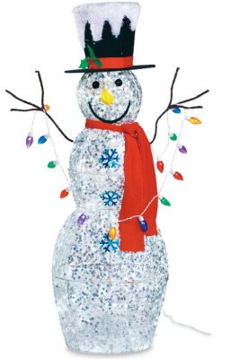 Noma/Inliten-Import Snowman With Lights, 48-Inch