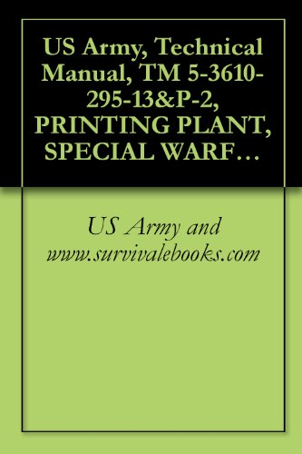 US Army, Technical Manual, TM 5-3610-295-13&P-2, PRINTING PLANT, SPECIAL WARFARE, TRANSPORTABLE (NSN 3610-01-106-2276) (APPLICABLE TO SE NUMBERS 0013 THROUGH ... VOL 2 (THIS ITEM INCLUDED IN EM 0165) (Ebay Canada Only compare prices)