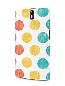 Cover Affair Polka Dots Printed Back Cover Case for OnePlus One