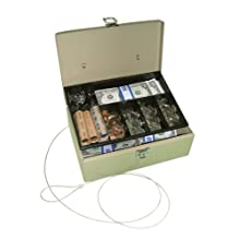 PM Company SecurIT Anti-Theft Lock 'n Latch Cash Box, 11 x 7.75 x 4 Inches, Beige, 1 per Box (04975)