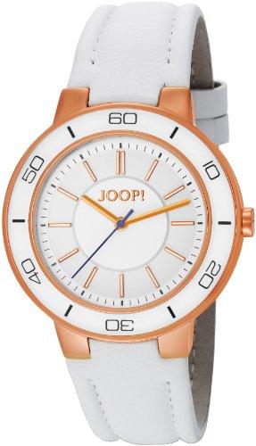 Joop  Insight Swiss Made - Reloj de cuarzo para mujer, con correa de cuero, color blanco