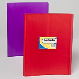 Presentation Book 10 Page 3 Assorted Colors (48 Pieces) - Presentation Book 10 Page 3 Assorted Colorscontent: 10 Pagescolor: 3 Assorted