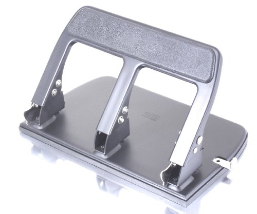 Officemate  Heavy Duty 3 Hole Punch with Padded Handle,  40-Sheet Capacity, Black (90089)