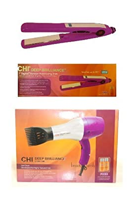 Best Cheap Deal for CHI Deep Brilliance Flat Iron & CHI Deep Brilliance Hair Dryer Purple Combo Set from CHI - Free 2 Day Shipping Available