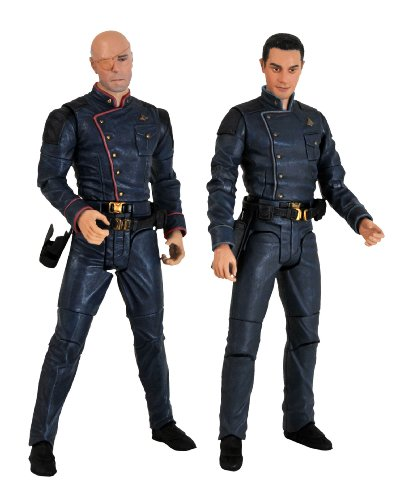 Picture of Diamond Comics Battlestar Galactica: Tigh and Gaeta Action Figure Two-Pack (B002FCMB76) (Diamond Comics Action Figures)