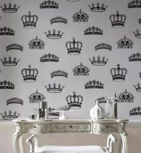 Graham and Brown Crowns + Coronets Wallpaper - Bl from New A-Brend