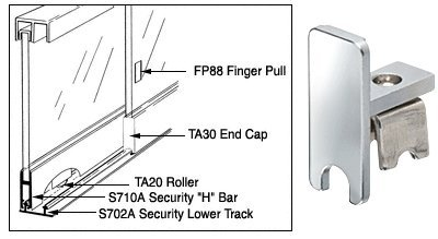 """Crl Satin Anodized End Cap For Security """"H"""" Bar front-633889"""