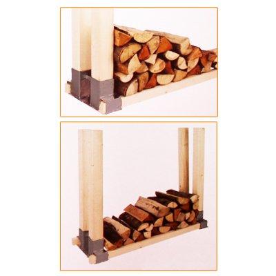 2 er oder 4 et set holz stapelhilfe kamin brennholz kaminholz holzstapelhalter kaminholzhalter. Black Bedroom Furniture Sets. Home Design Ideas