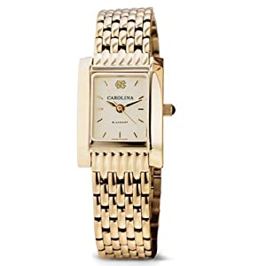 UNC Ladies Swiss Watch - Gold Quad with Bracelet by M.LaHart & Co.
