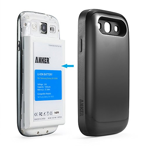 galaxy s3 battery anker 7200mah extended replacement. Black Bedroom Furniture Sets. Home Design Ideas