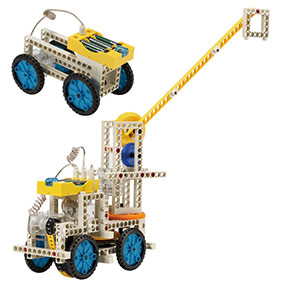 Build 10 remote control models <i>embracing a</i>  crane and a simple car
