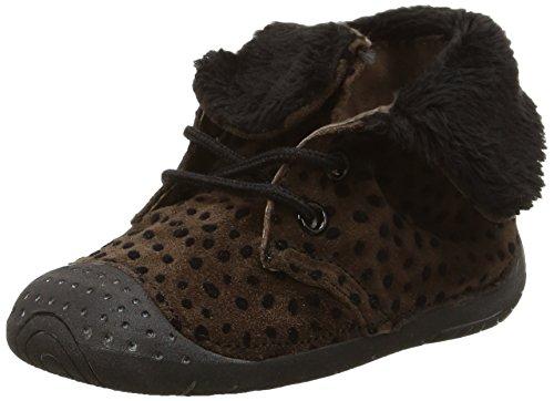 Babybotte - Zouk1, Baby Shoes per bimbi, marrone (025 marron à pois noir), 17