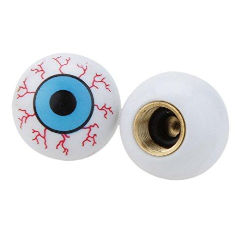 Lixada Cappelletti per gomme di biciclette,Eye sfera Valve Cap,2 pezzi