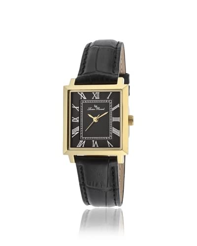 Lucien Piccard Women's 10502-YG-01 Bianco Black/Gold Leather Watch