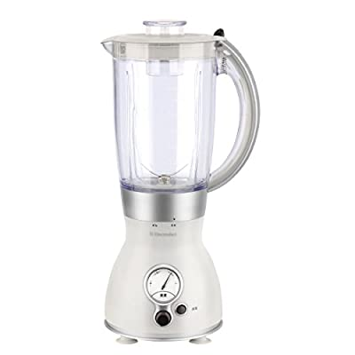 PHY 1.5L 3-speed Multi-function Countertop Blender with Glass Jar & Optional Coffee Grinder, White by PHY