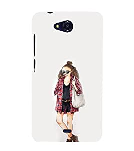 EPICCASE Fashion Girl Mobile Back Case Cover For Micromax Canvas Play Q355 (Designer Case)