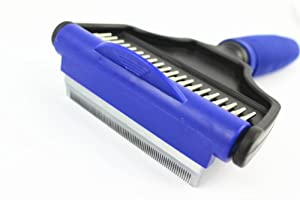 The Desheddinator Medium 2 in 1 Comb/brush - By Pet Grooming - Pet Supplies for Cats and Dogs - Dog Groomer and Cat Groomer De Shedding Tool - Best Undercoat Hair Removal Tool for Shedding and Matting Long or Short Hair Pets- 1 Year Guarantee