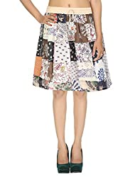Gypsy Sarong Casual Skirt Cotton Floral Patchwork Womens Skirt By Rajrang