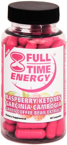 Full-Time Energy Super Pill with Raspberry Ketones Garcinia Cambogia Green Coffee Bean Extract Fat Burners - Extreme Diet Pills - The Best Weight Loss Supplements That Works Fast for Women and Men