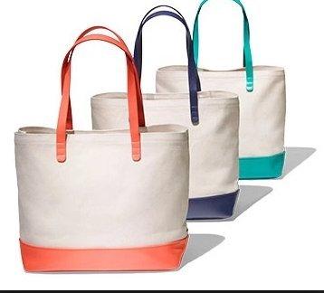bloomingdales-canvas-coral-tote-bag