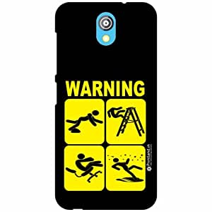 HTC Desire 526G Plus Back Cover - Silicon Warning Designer Cases