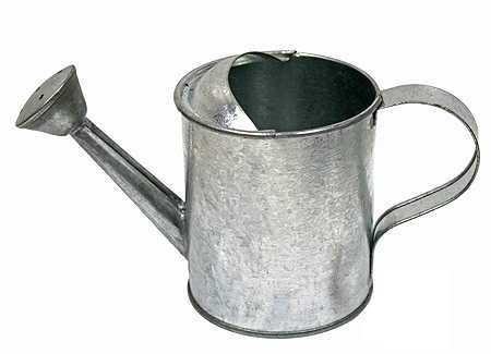 Package Of 4 Galvanized Metal Watering Cans