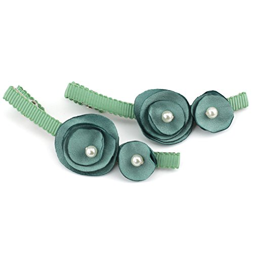 silky-satin-floral-pearlescent-hair-clips-2-piece-set-sage-green