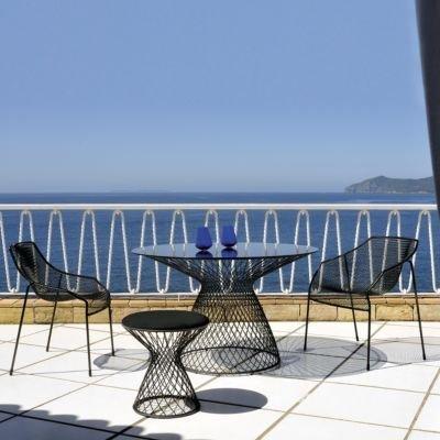 Heaven Tisch Gestell schwarz / Glasplatte rauchgrau ø 120 cm online kaufen
