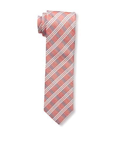 JS Blank Men's Plaid Tie, Red