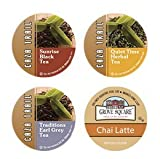 24 Count - Caza Trail Tea K Cup Variety Pack (4 Flavors, 6 K-cups Each)