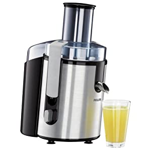 Philips HR1861 Aluminium Whole Fruit Juicer With Juice Jug and Cleaning Brush