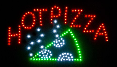 New Led Illuminated Advertising Signs Xxl Display Signs// Hot Pizza