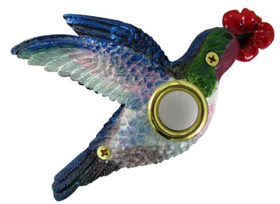 Company's Coming DBP083 Lighted Door Chime Button, Painted Hummingbird, 3-1/8-In. x 4-3/8-In.