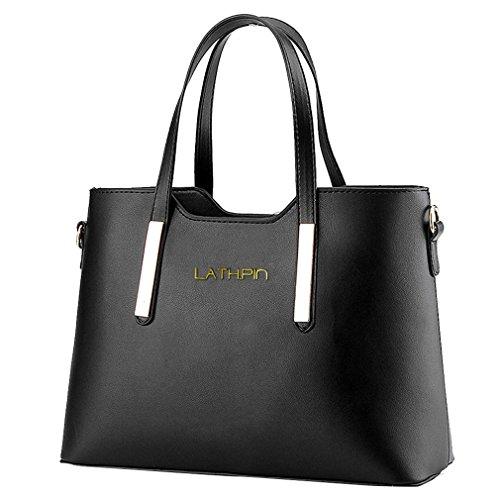 Borse a Mano Donna Borsa a Tracolla in Pelle PU Borsetta Shopper Pu Leather Handbag - LATH.PIN