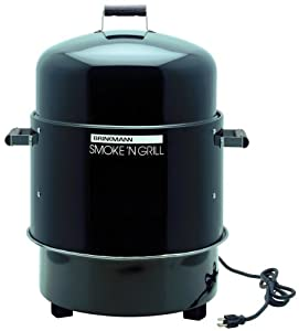 Brinkmann 810-5290-4 Smoke'N Grill Electric Smoker and Grill, Black