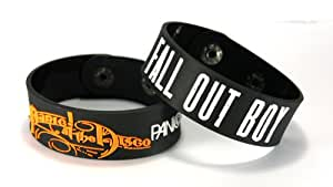 Amazon.com: PANIC! AT THE DISCO FALL OUT BOY 2pcs(2x) Bracelet