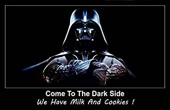 Star Wars Darth Vader Unsigned 11x17 Photograph Come To The Dark Side, We have Milk and Cookies