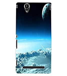 ColourCraft Sky Look Design Back Case Cover for SONY XPERIA T2 ULTRA