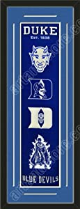 Heritage Banner Of Duke Blue Devils With Team Color Double Matting-Framed Awesome... by Art and More, Davenport, IA
