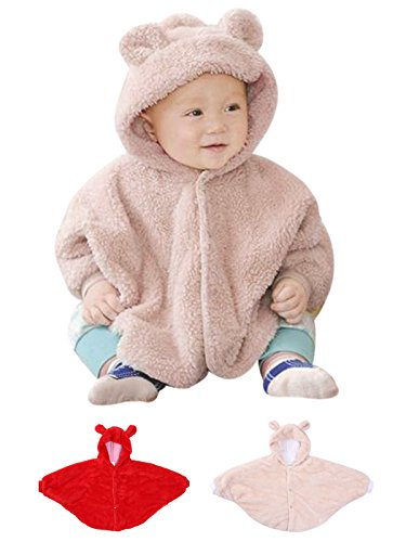 HnB Baby Kid Toddler Fleece Bear Hoodie Cape Cloak Coat Rabbit Hoodie Outwear
