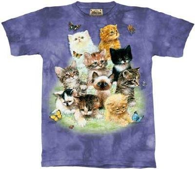 10 Kittens T-Shirt by The Mountain 100% Cotton Short Sleeve fits Teens & Adults (Large)