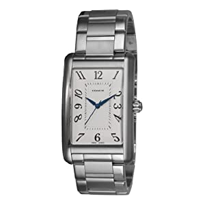 Coach Men's 14600964 Lexington White guilloche Dial Watch