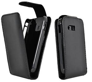Accessory Master Housse en cuir avec écran de protecteur pour Samsung galaxy y s5360 Noir