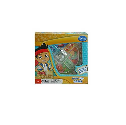 Disney Jake And Never Land Pirates Trouble Race-And-Chase Pop-Up Bubble Children'S Board Game front-110394