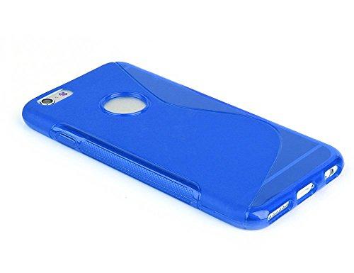 Bleu-S-Line-Wave-Coque-arrire-en-gel-TPU-souple-pour-Apple-iPhone-coque-6S