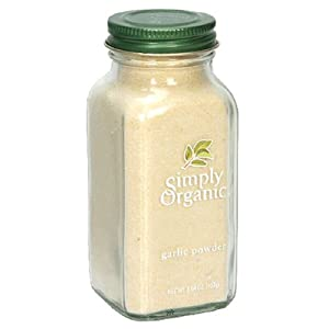 Simply Organic Garlic Powder Certified Organic, 3.64-Ounce Containers  (Pack of 3)