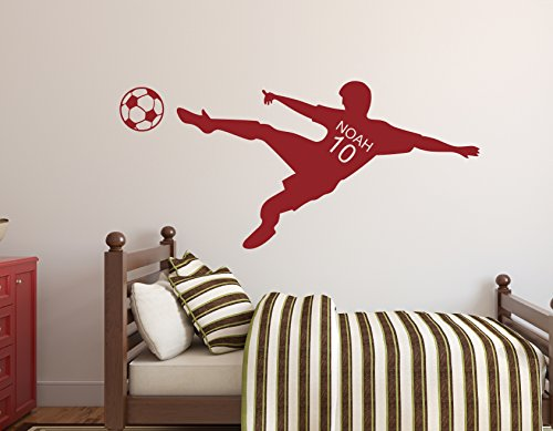 soccer wall decal nursery wall decals soccer player wall decal